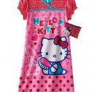 HELLO KITTY Girl's Size XS 4 Pink Nightgown and Purse Set, NEW