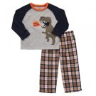 CARTER'S Boy's Size 4T Dinosaur Pajama Lounge Pants Set, NEW