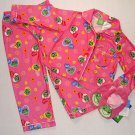 NEW LEAPFROG Girls 3T Pajama Set w/ Slippers CUTE!