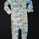 THE CHILDREN'S PLACE Size 24 Months WINTER SNOWMAN Pajama Sleeper, NEW