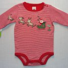 CARTER'S Girl's, Boy's Size 3 Months CHRISTMAS SANTA Bodysuits Set, NEW