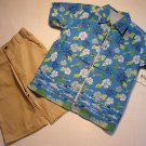 BUSTER BROWN Boys Size 5 Three-Piece Tropical Island Shorts Set NEW
