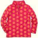 OSHKOSH B'GOSH Girl's Size 4 Pink Orange Dot Micro Fleece Pullover, NEW