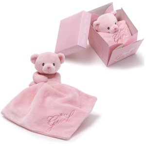 GUND IT'S A GIRL BEAR IN THE BOX Plush Blanket Gift Box, NEW