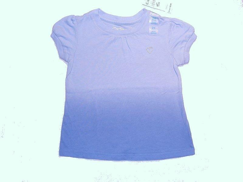 CHILDREN'S PLACE Girls 12 Months Blue Heart Short-Sleeved Top, Shirt, NEW