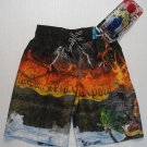 ZEROXPOSUR Boy's Size 4 DRAGON Swim Surf Shorts, NEW