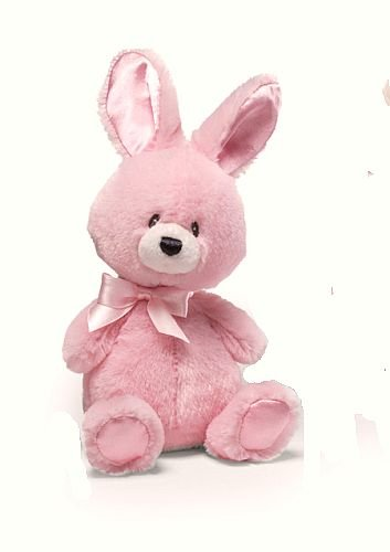 """GUND Plush 6"""" PINK BUNNY Baby Rattle, EASTER, NEW, NWT"""
