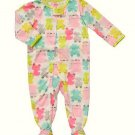 CARTER'S Girl's Size 4T Frog Print Footed Pajama Sleeper, NEW