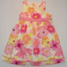 OSHKOSH Girl's Size 24 Months, 2T Sleeveless Floral Occasion Dress Set, NEW