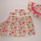 OSHKOSH Girl's 18 Months Floral Sundress, Bloomers and Hat Set