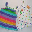 CARTER'S Size 3 Months Striped, and Dot Toucan Dress Sets, NEW