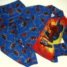 SPIDER-MAN Boy's Size 10 Wall Crawler Flannel Coat Pajama Set, NEW
