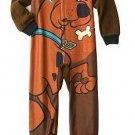 SCOOBY-DOO Boy's Size 4 Fleece Pajama Blanket Sleeper, Scared Pup, NEW