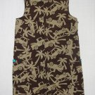 CARTER'S Boy's 18 Months Brown Tropical Adventure Shortall Romper, NEW
