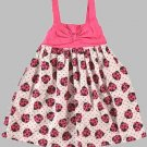 SUGAR & HONEY Girl's Size 3T Pink Bow Ladybug Sundress, Dress, NEW