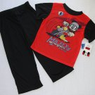 DISNEY MICKEY MOUSE Motor Sports Motorcycle Size 3T Pajama Pants Set, NEW