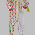 THE CHILDREN'S PLACE Girl's Size 3T DOT BUNNY Pajamas, One-Piece, NEW