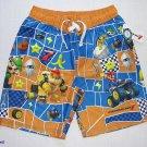SUPER MARIO KART 7 Boy's Size 7 Swim Shorts, Trunks, NEW