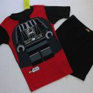 LEGO STAR WARS Boy's Size 8 DARTH VADER Pajama Shorts Set, NEW