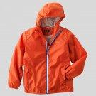 EDDIE BAUER KIDS Boy's Size 6 Orange Lined Hooded Windbreaker Jacket, NEW