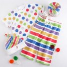 BABY ASPEN LOLLIPOP LOUNGEWEAR Boy's Girl's 0-6 M 3-Piece Clothing Gift Set, NEW