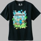 MINECRAFT Size L, 14-16 Navy Blue STEVE, CREEPER T-Shirt, MOJANG, JINX, NEW