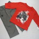 TIMBERLAND Boy's 18 Months Pants, Shirt and Sweat Hooded Sherpa Jacket Set, NEW