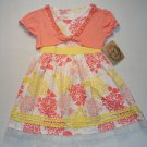 SUGAH & HONEY Girl's Size 5 Hydrangea Floral Dress Shrug Set, NEW
