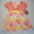 SUGAH & HONEY Girl's Size 4 Hydrangea Floral Dress Shrug Set, NEW