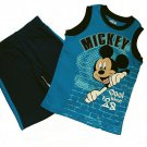 DISNEY MICKEY MOUSE CLUBHOUSE Boy's 4T Shorts Outfit, Set, NEW