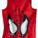 MARVEL SPIDER-MAN Boy's Size 7 Red Glow-in-the-Dark Tank Top, Shirt, Tee, NEW