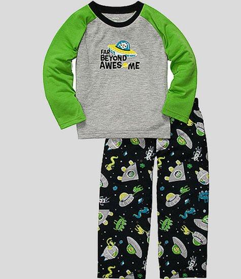 CARTER'S Boy's Size 4T SPACE ALIEN Pajama Pants Set, NEW