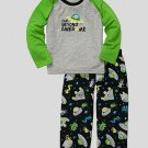 CARTER'S Boy's Size 3T SPACE ALIEN Pajama Pants Set, NEW