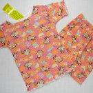 DREAM GIRLZ Size 3T Shorts Pajama Set, 'Cupcakes', NEW