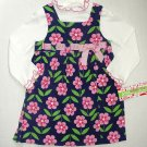 ASHLEY ANN Girl's Size 4 Floral Corduroy Dress Set, NEW