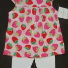 CARTER'S Girl's 9 Months STRAWBERRY Tunic Shirt, Leggings Set, Outfit, NEW