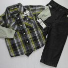 ECKO UNLTD Boy's Size 2T Shirt Button-Down Shirt, Black Jeans Set, Outfit, NEW