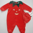 LITTLE ME Size 3 Months HALLOWEEN PUMPKIN Costume Romper and Hat Set, NEW