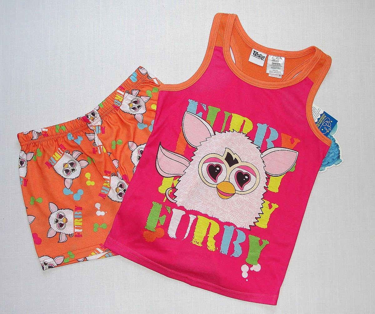 FURBY Girl's Size 4/5 Pajama Shorts, Tank Pajama Top Set, NEW