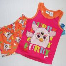 FURBY Girl's Size 4/5 Pajama Shorts, Tank Pajama Top Set, NEW