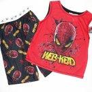SPIDER-MAN Boy's Size 6/7 Boy's Pajama Tank Top Shorts Set, NEW