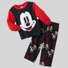 DISNEY Boy's Size 4T MICKEY MOUSE Fleece Pajama Pants Set, NEW