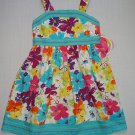 YOUNGLAND Girl's Size 5 Multi Floral Turquoise Sundress, Dress, NEW
