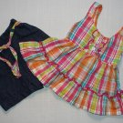 KIDGETS Girl's Size 12 Months Striped Colorful Halter Top and Shorts Set, Outfit
