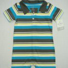 CARTER'S Boy's 24 Months Striped Polo Romper, One-Piece, NEW