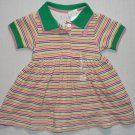 THE CHILDREN'S PLACE Girl's 3-6 Months Striped Polo Dress, NEW