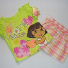 NICKELODEON DORA LOVE YOU Girl's 18 Months Shorts Set, Outfit, NEW