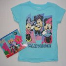 DISNEY Girl's Size 6X MISS MINNIE Shirt, T-Shirt, Tee, Hair Asscessory Set, NEW