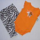 CARTER'S Daddy Makes Me Smile Orange 6 Months Bodysuit, Pants Outfit, Set, NEW