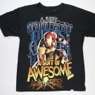 MARVEL Boy's Size L 10-12 IRONMAN Suit Of Awesome T-Shirt. NEW, NWOT